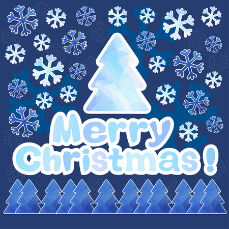 Merry Christmas, a festive background  Can be used as an invitation, greeting card  Vector