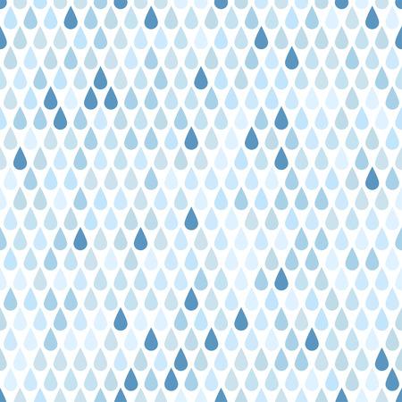 Naadloze patroon met druppels regen