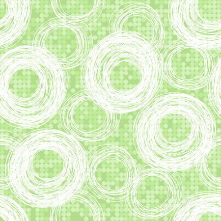 Seamless abstract background with circles  Vector
