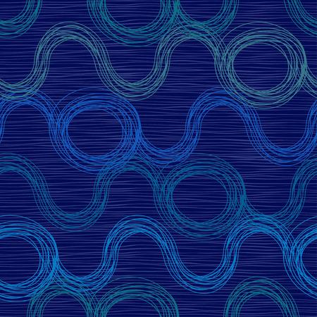 aqueous: Waves.Vector modelli senza soluzione. Trama Endless pu� essere utilizzato per carta da parati, riempimenti a motivo, sfondo della pagina web, texture di superficie. Astratti ornamenti. Vettoriali