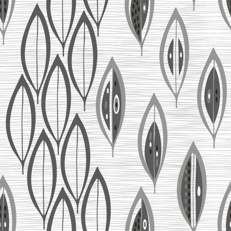 抽象的なシームレスな白黒パターンを残します。  イラスト・ベクター素材