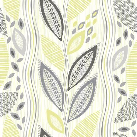 抽象のシームレスなパターンを残します。手描き花の背景。