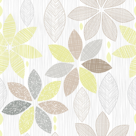 Seamless pattern of abstract flowers. Иллюстрация
