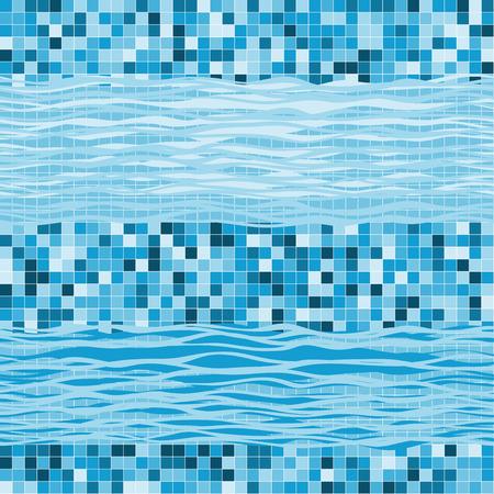 natation: Modelo geom�trico incons�til con las ondas. Fondo marino abstracto.