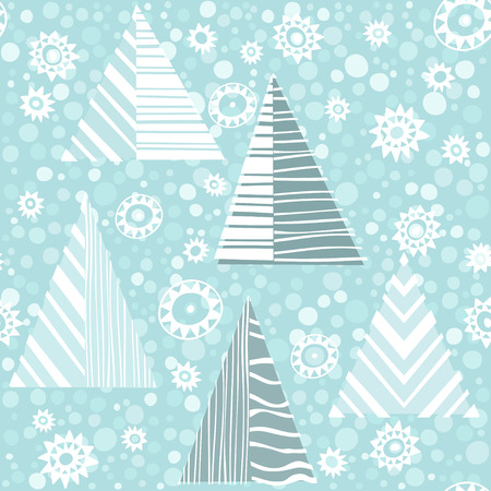 Seamless Christmas pattern with firtrees. Illustration