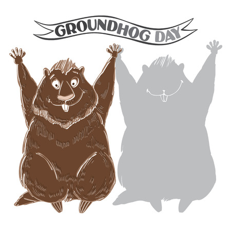 varmint: Groundhog and shadow.