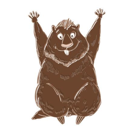 woodchuck: Symbol of Groundhog day.