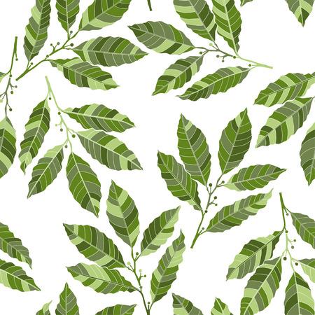sprig: Seamless abstract floral pattern, illustration. Illustration