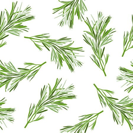 Seamless pattern with rosemary. Illustration