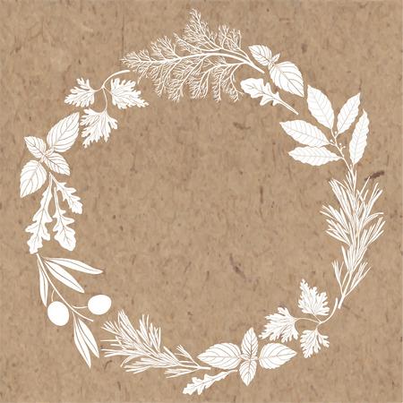Enmarcar con especias y hierbas. Foto de archivo - 42094715