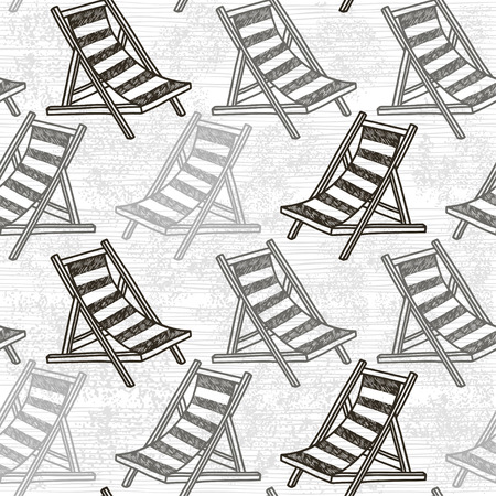 chaise: Seamless pattern with beach chaise.