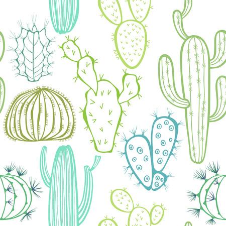 Naadloos patroon met cactus. Vector Illustratie