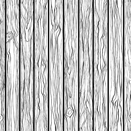 Wood texture. Seamless vector pattern. Black and white hand-drawn illustration. Illustration