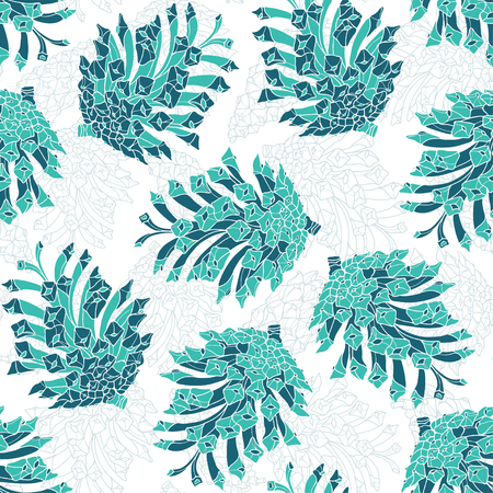 pine cones: Seamless pattern with pine cones. illustration on a white background.