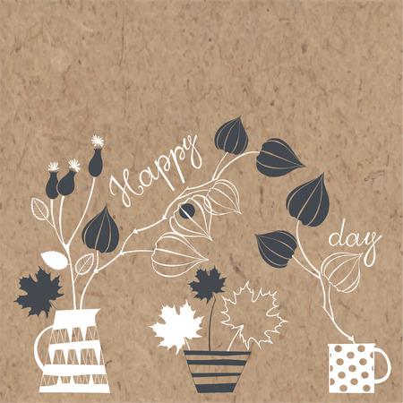 day: Happy day. Illustration