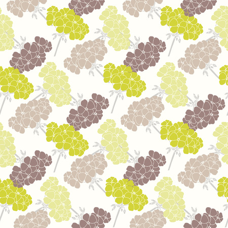 Seamless pattern with geraniums.