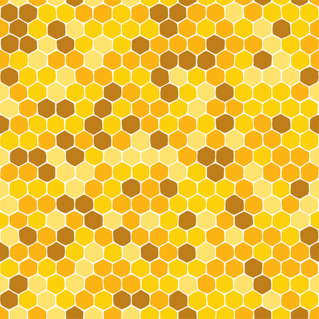 Honeycomb. Seamless pattern. Hand-drawn vector illustration. Nature abstract background Illustration