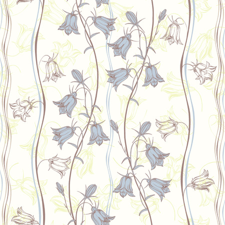 Bluebells.Floral background. Vector illustration. Ilustrace