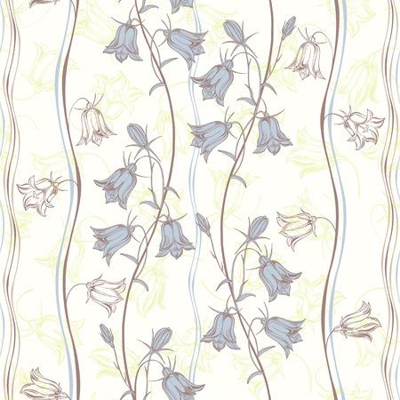 Bluebells.Floral background. Vector illustration. Illustration