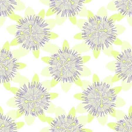 Passionflower. Floral background. Vector illustration.