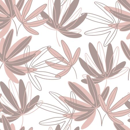 Passionflower. Floral background. Vector illustration. Monochrome on white.