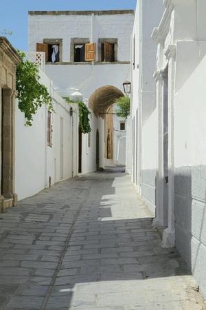 Narrow street in Rhodos