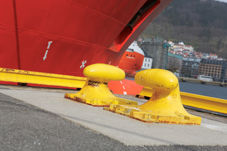 cleat: Ship rope cleat Stock Photo