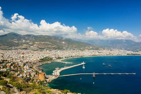 Alanya city view, Turkey.