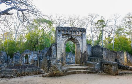 ancient near east: Ruins of Gedi. Watamu, Kenya. Editorial