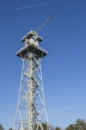 A skydiving tower used for military training of troops photo