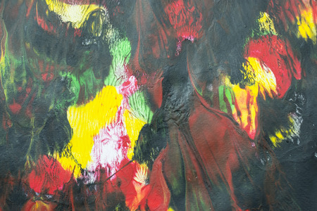smeared: Various acrylic colors blended and smeared in an abstract artistic background