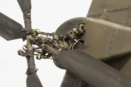 rotor: Modern attack helicopter tail rotor mechanism with four blades