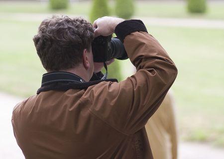 Photographer take photos in the park Stock Photo - 6257320
