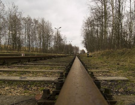 the part of railway in forest Stock Photo - 6552428