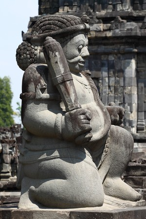 pilgrim journey: Prambanan Temple, Yogyakarta, Java, Indonesia Stock Photo