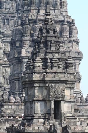 pilgrim journey: Prambanan Temple, Yogyakarta, Java, Indonesia Stock Photo