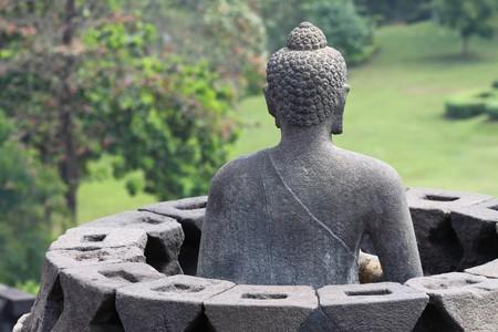 yogyakarta: Borobudur Temple, Yogyakarta, Java, Indonesia Stock Photo