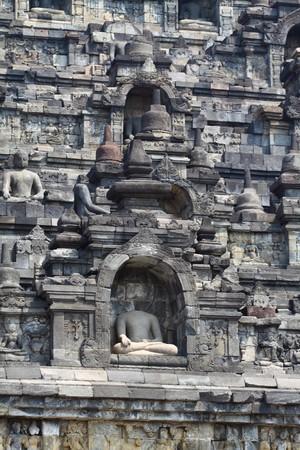 pilgrim journey: Borobudur Temple, Yogyakarta, Java, Indonesia Stock Photo
