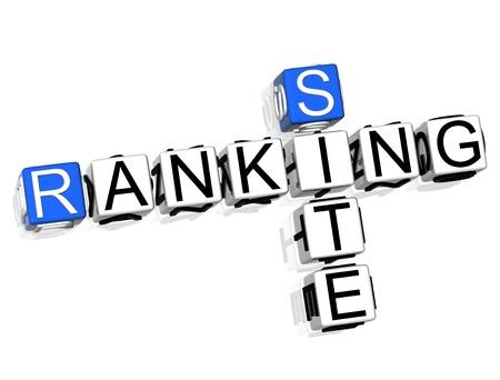 Ranking Site Crossword Stock Photo - 8340432