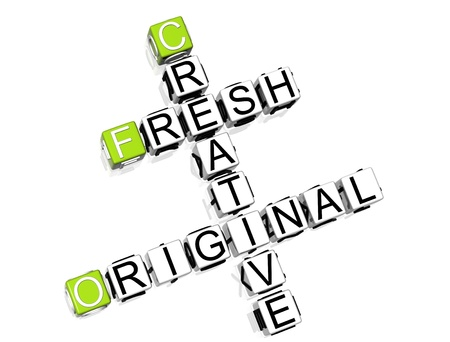 Fresh Creative Original Crossword Stock Photo - 8340438
