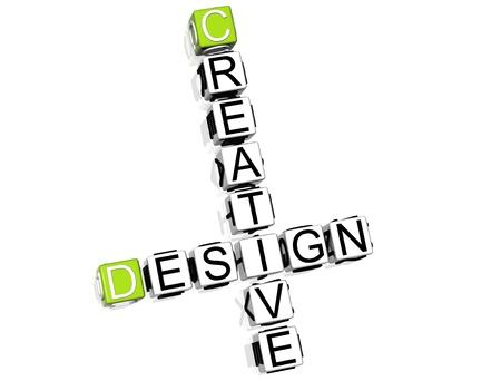 Fresh Creative Original Crossword Stock Photo - 8340422
