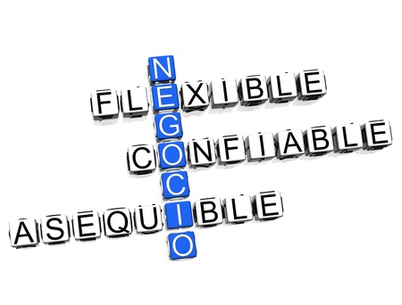 Negocio Online Crossword Stock Photo - 8340441