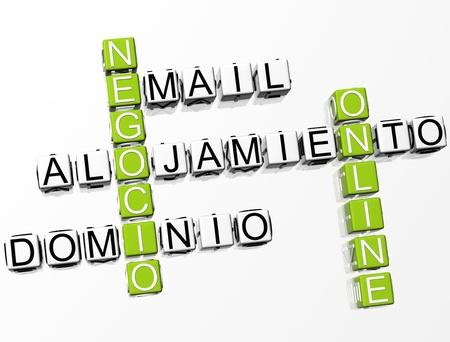 Negocio Online Crossword Stock Photo - 8340459