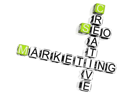 Seo Marketing Crossword Stock Photo - 8340434