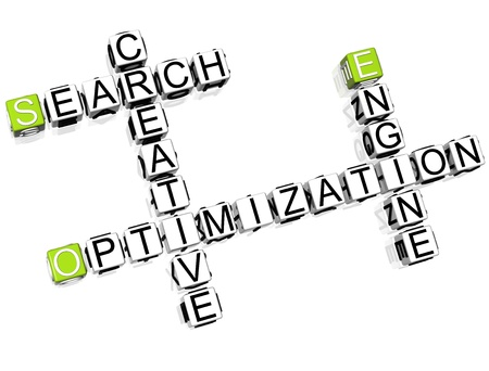 Seo Marketing Crossword Stock Photo - 8340449