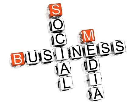 vie sociale: Business Social Media mots crois�s Banque d'images