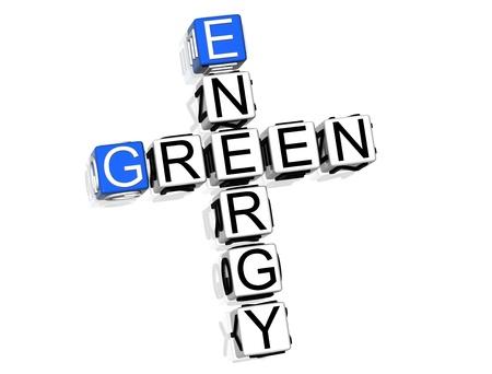 Green Energy Crossword Stock Photo - 8340427