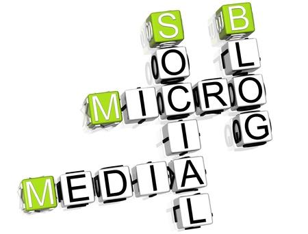 Media Blog Crossword Stock Photo - 8340448