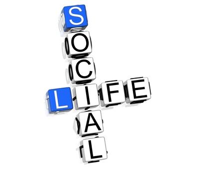 Sozialen Lebens-Kreuzworträtsel Lizenzfreie Bilder - 8340420