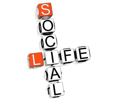 vie sociale: Mots crois�s de la vie sociale Banque d'images